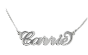 Sterling Silver Monogram Name Necklace
