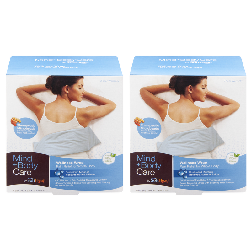 SoftHeat Mind + Body Care Wellness Pain Relief Wrap (2-Pack)
