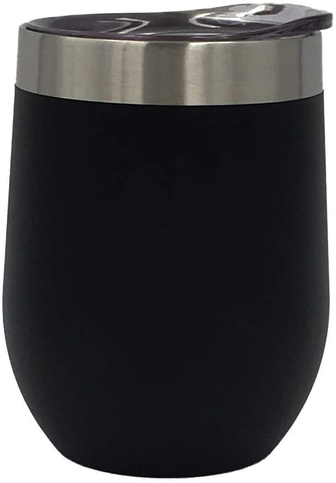 nICE 12-Oz VCUM Stainless Steel Wine Tumbler, Black (4-Pack)