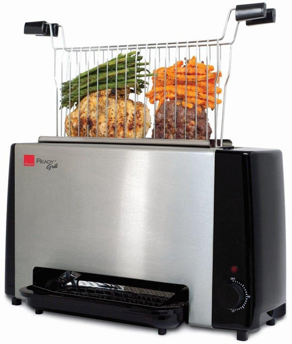 Ronco Ready Grill, Stainless Steel, Black
