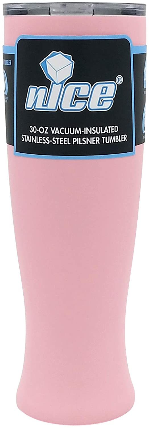nICE TPF-515666 30 OZ Pilsner Beer Glass-Pink, 2 pack