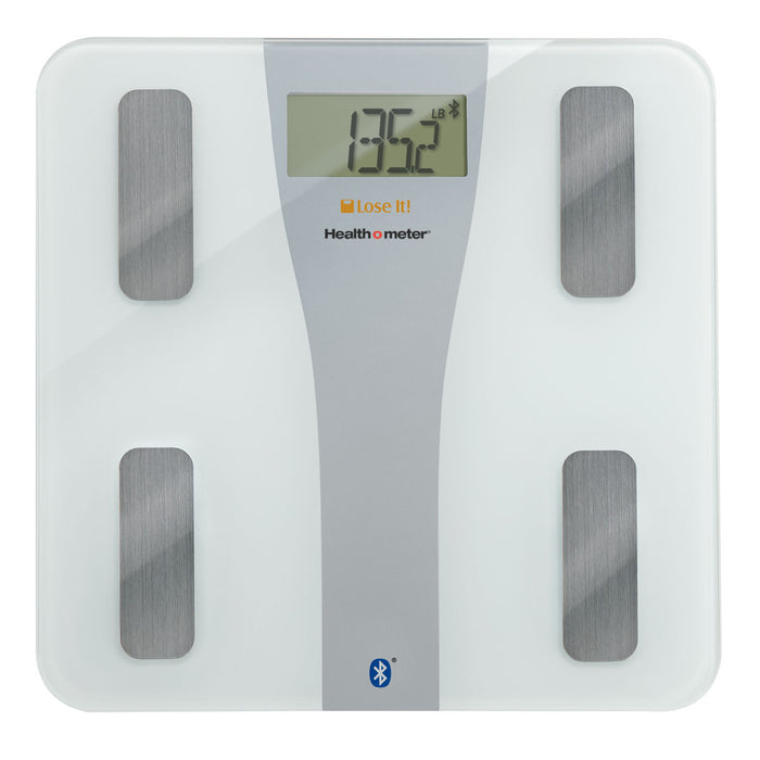 Health O Meter Lose It! Bluetooth Glass Body Fat Scale for iPhone, (BFM147DQ-01)