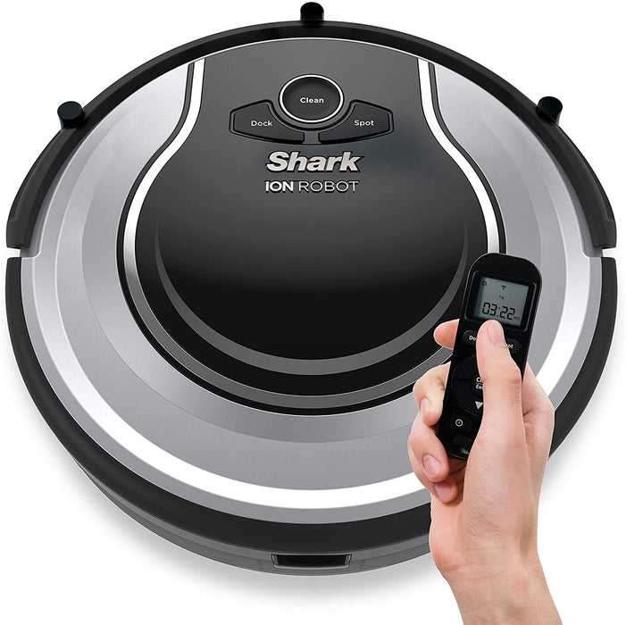 Shark ION RV700 Cordless Self Smart Robot Carpet and Hardwood Floor Vacuum Cleaner with Easy Scheduling Remote and Boundary Strip, Black - Certified Refurbished