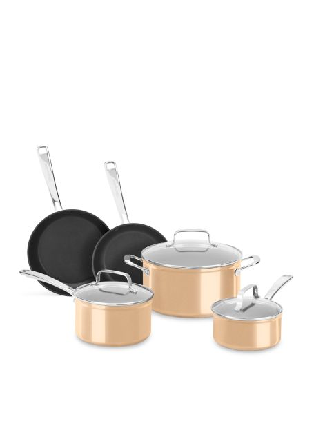 8-Piece KitchenAid Hard Anodized Aluminum Nonstick Cookware Set