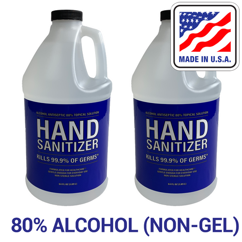 80% Alcohol Liquid Hand Sanitizer, 1 Gal