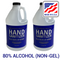 80% Alcohol Liquid Hand Sanitizer, 1 Gal (Two 64 oz bottles), USA-Made