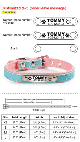 Size Chart And Personalized Tag