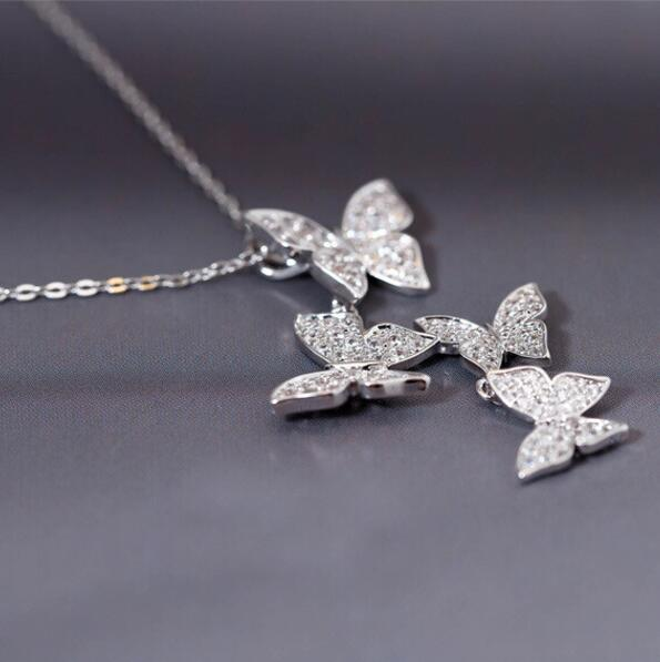 CZ Butterflies Necklace