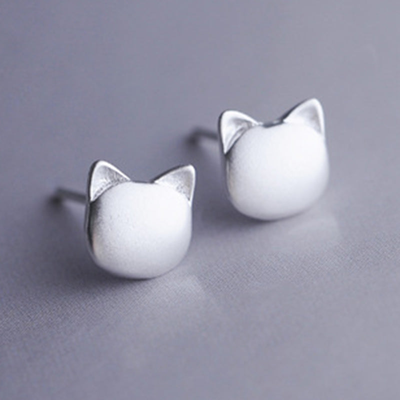 Cat Ear 925 Sterling Silver Earrings