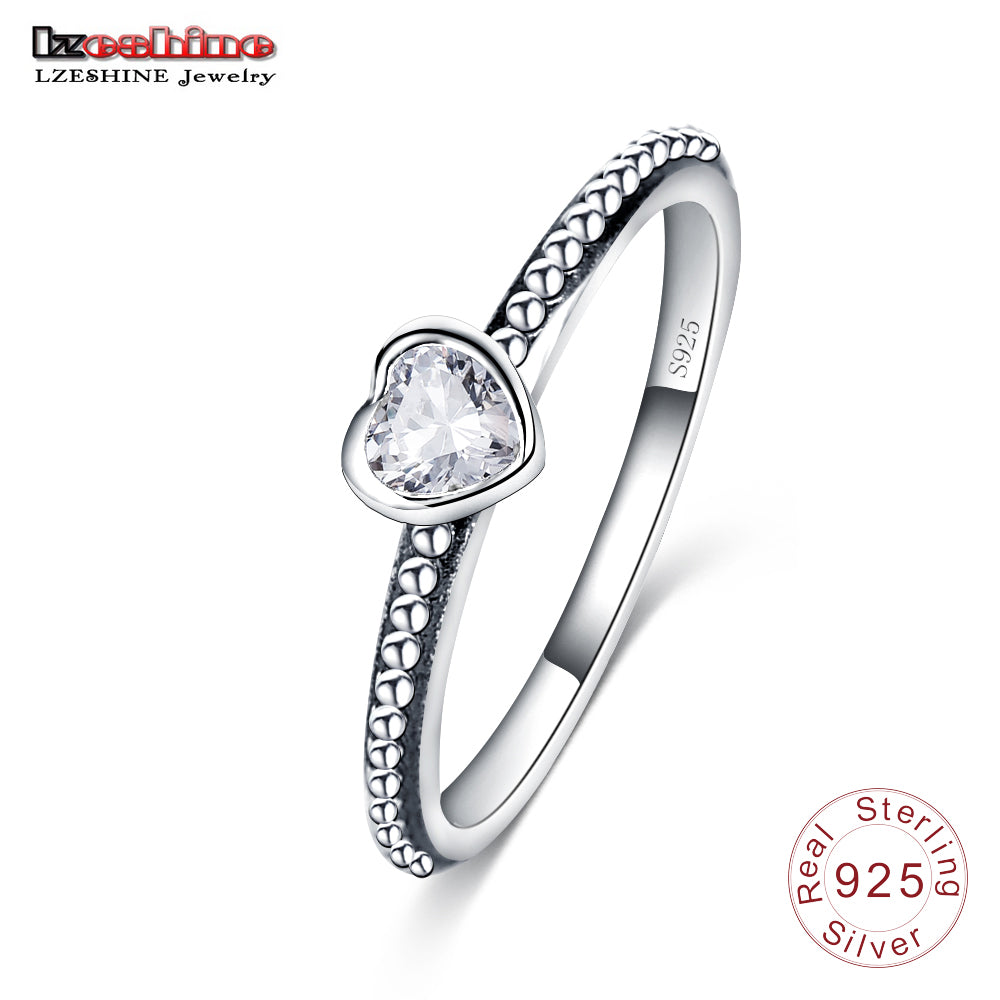 Zircon Heart Ring