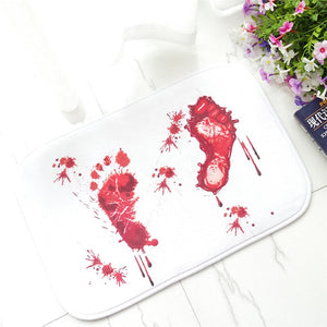 Blood Footprints Mat