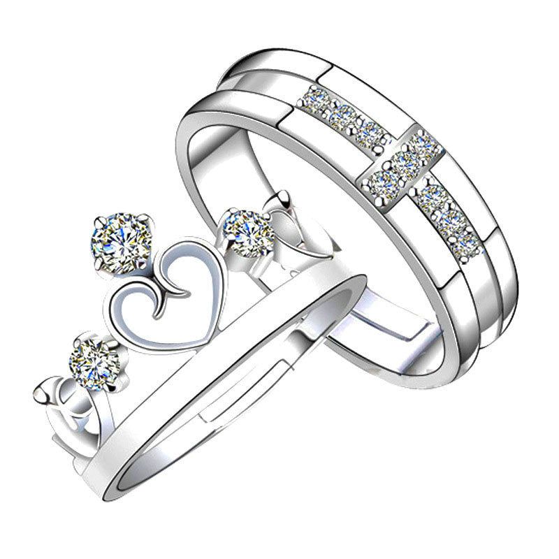 Princess And Prince Adjustable Ring Set