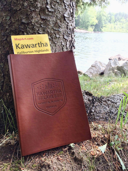 Kawartha Shield Leather Notebook