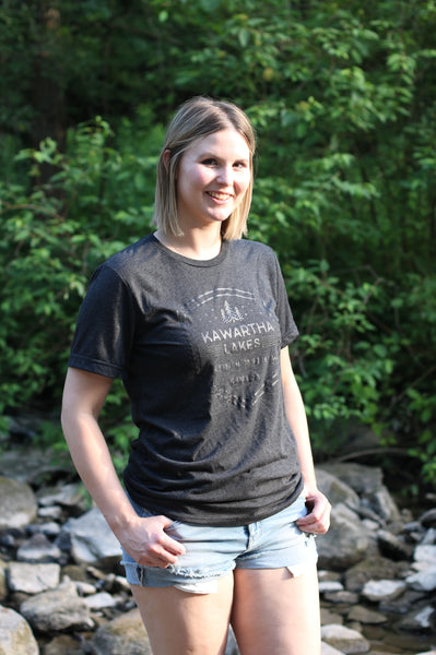 Kawartha Black Unisex Tee - Dark Shield