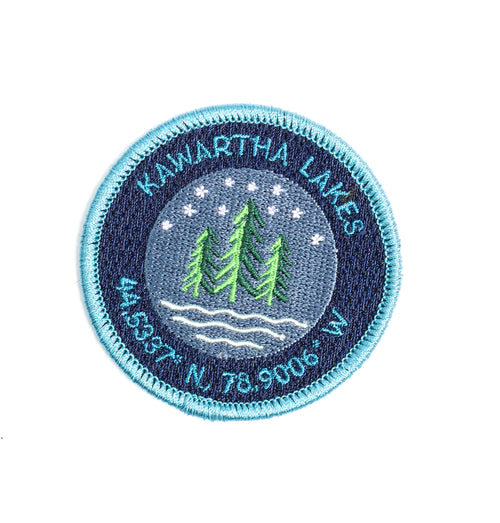 Kawartha Coordinates Iron On Patch