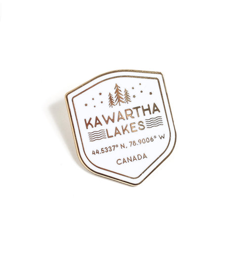 Kawartha Shield Enamel Pin
