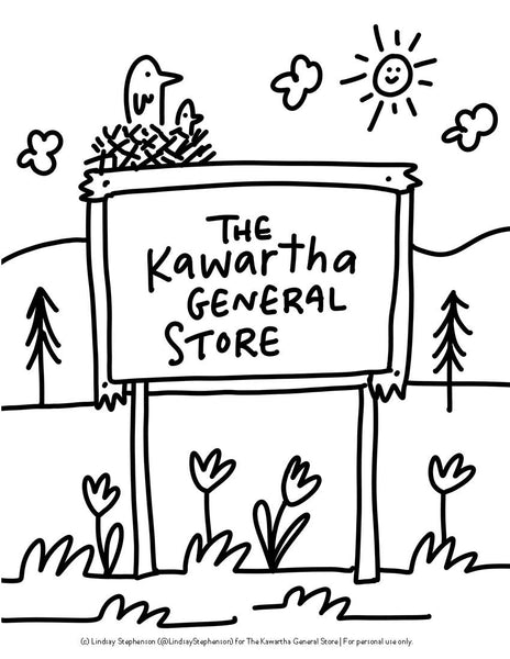 Kawartha Colouring Page #1 - FREE DOWNLOAD