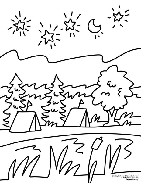 Kawartha Colouring Page #2 - FREE DOWNLOAD