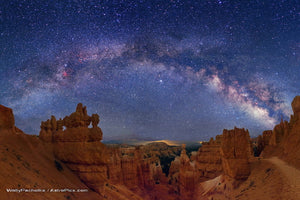 """Hiking Bryce Canyon at Night under Milky Way"" - Wally Pacholka"