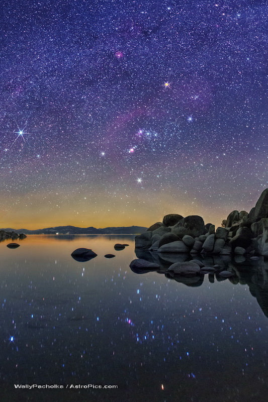Orion Star Reflections in Nevada's Lake Tahoe - Wally Pacholka