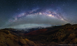 Southern Cross to Northern Cross over Haleakala Crater