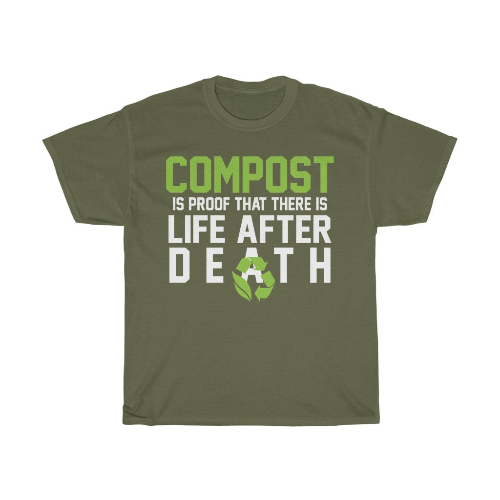 Compost - Life After Death - Unisex Heavy Cotton Tee