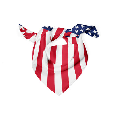Banana Bandanas American Badass dog bandana patriotic american flag dog bandana USA spread folded view