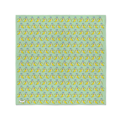 Banana Bandanas Bananaman bandana banana logo pattern green flat photo