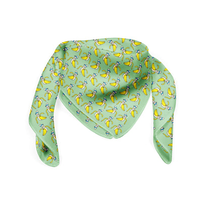 Banana Bandanas Bananaman bandana banana logo pattern green folded photo
