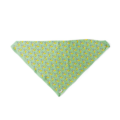 Banana Bandanas Bananaman dog bandana banana logo pattern green triangle dog bandana