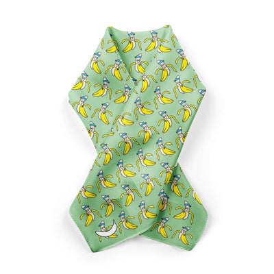 Banana Bandanas Bananaman overripe bandana banana logo pattern green alternative photo