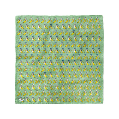 Banana Bandanas Bananaman overripe dog bandana banana logo pattern green flat photo