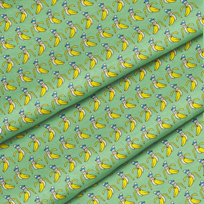 Banana Bandanas Bananaman dog bandana banana logo pattern green detail photo