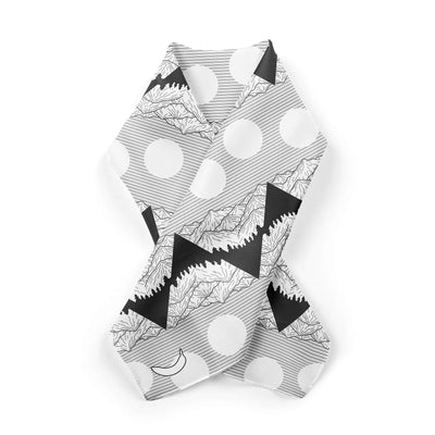 Banana Bandanas Big Pointy Rocks overripe bandana mountain range hiking bandana illustration black and white alternative photo