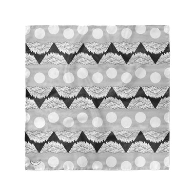 Banana Bandanas Big Pointy Rocks overripe dog bandana mountain range hiking bandana illustration black and white flat photo