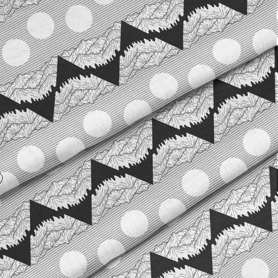 Banana Bandanas Big Pointy Rocks dog bandana mountain range hiking bandana illustration black and white detail photo