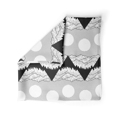 Banana Bandanas Big Pointy Rocks dog bandana mountain range hiking bandana illustration black and white alternative photo