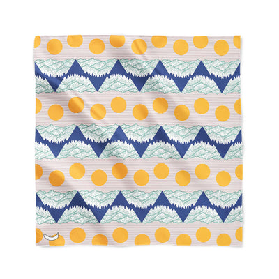 Banana Bandanas Big Pointy Rocks overripe bandana mountain range hiking bandana illustration sunset flat photo