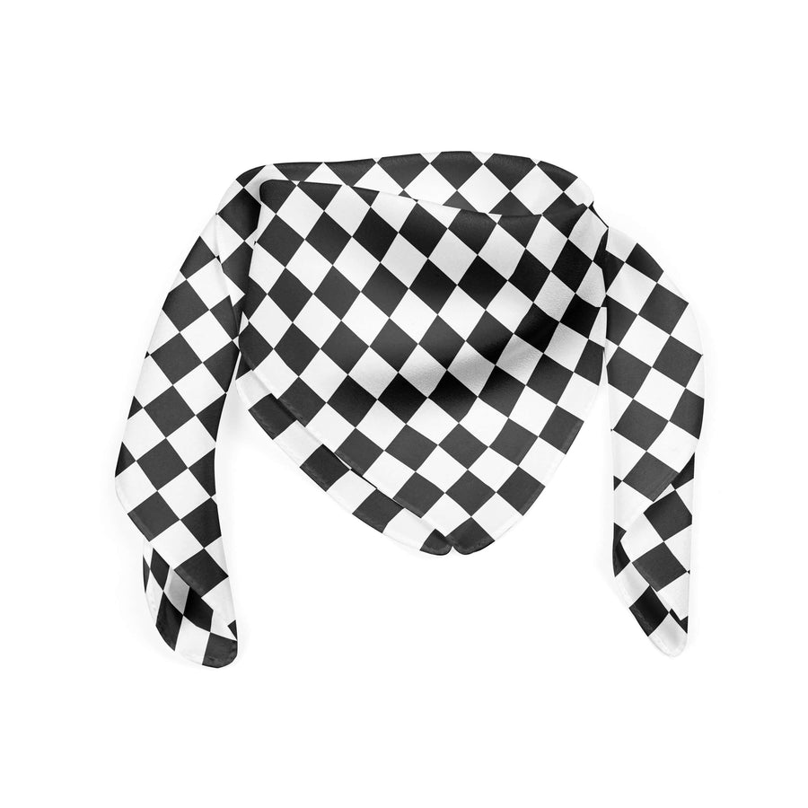 Banana Bandanas Checkmate bandana gingham checkerboard spread flat photo