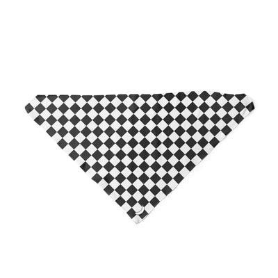Banana Bandanas Checkmate dog bandana gingham checkerboard spread triangle dog bandana