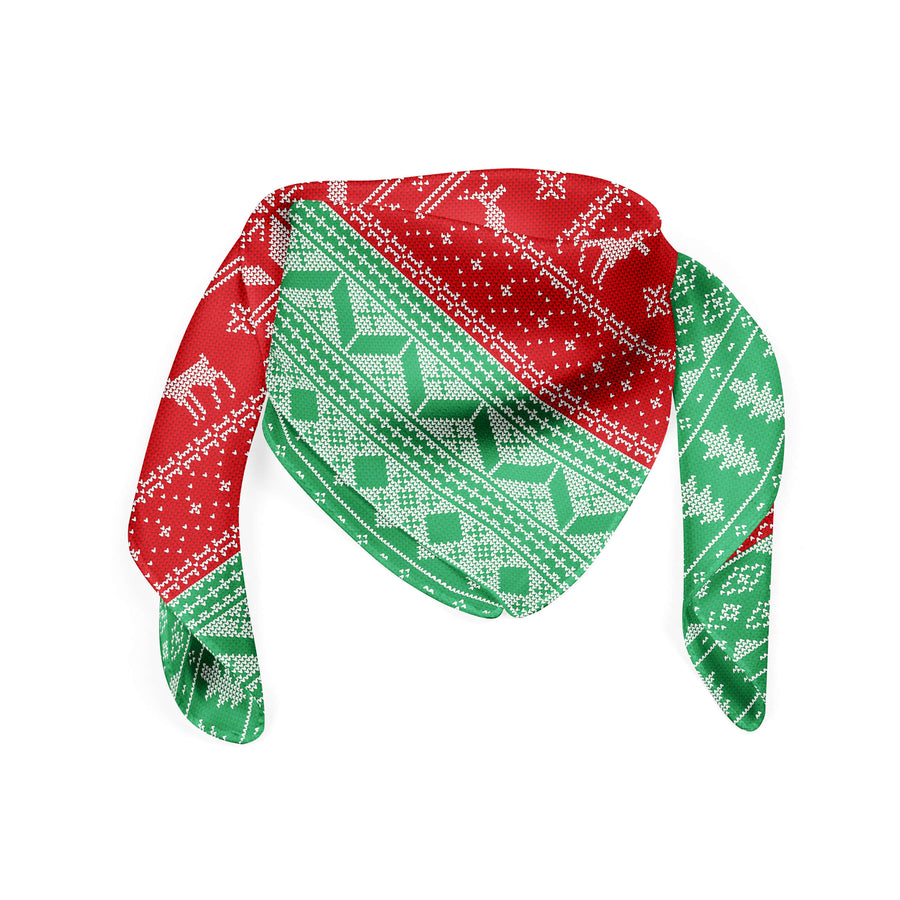 Banana Bandanas Christmas Sweater banana ugly christmas sweater bandana green and red bandana front photo
