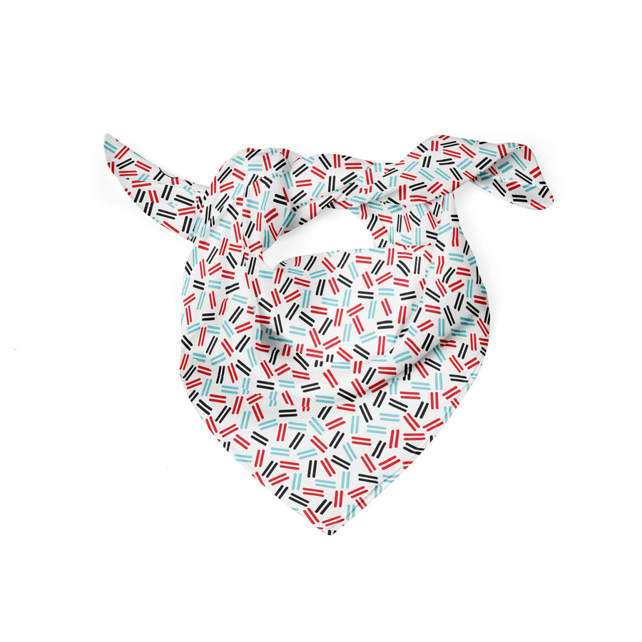 Banana Bandanas Confetti Confectionery dog bandana blue red candy dog bandana flat photo