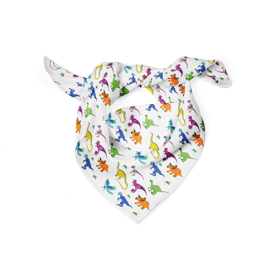 Banana Bandanas Derpy Dinos dog bandana dinosaur illustration flat photo