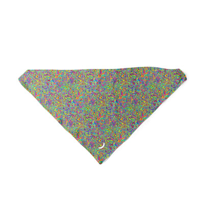 Banana Bandanas Dropping Oil or Spilling Acid dog bandana colorful oil spill spread triangle