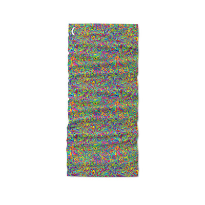 Banana Bandanas Dropping Oil or Spilling Acid headband colorful oil spill spread flat photo