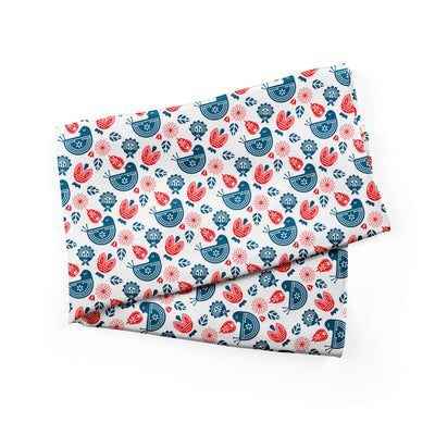 Banana Bandanas Ducks in a Row bandana blue red duck pattern bandana Norwegian spread alternative photo