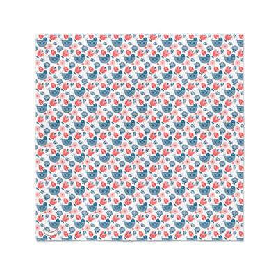 Banana Bandanas Ducks in a Row bandana blue red duck pattern bandana Norwegian spread flat photo