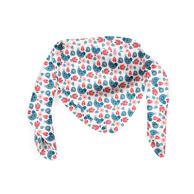 Banana Bandanas Ducks in a Row bandana blue red duck pattern bandana Norwegian spread folded photo