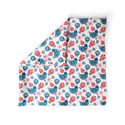 Banana Bandanas Ducks in a Row dog bandana blue red duck pattern dog bandana Norwegian spread alternative photo
