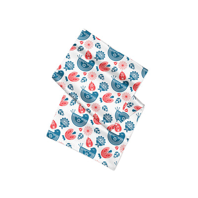 Banana Bandanas Ducks in a Row overripe dog bandana blue red duck pattern silk dog bandana Norwegian spread alternative photo